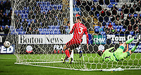 Bolton Wanderers' Josh Magennis scoring his side's second goal <br /> <br /> Photographer Andrew Kearns/CameraSport<br /> <br /> Emirates FA Cup Third Round - Bolton Wanderers v Walsall - Saturday 5th January 2019 - University of Bolton Stadium - Bolton<br />  <br /> World Copyright &copy; 2019 CameraSport. All rights reserved. 43 Linden Ave. Countesthorpe. Leicester. England. LE8 5PG - Tel: +44 (0) 116 277 4147 - admin@camerasport.com - www.camerasport.com