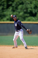 New York Yankees Jesus Bastidas (18) during a Minor League Spring Training game against the Detroit Tigers on March 21, 2018 at the New York Yankees Minor League Complex in Tampa, Florida.  (Mike Janes/Four Seam Images)