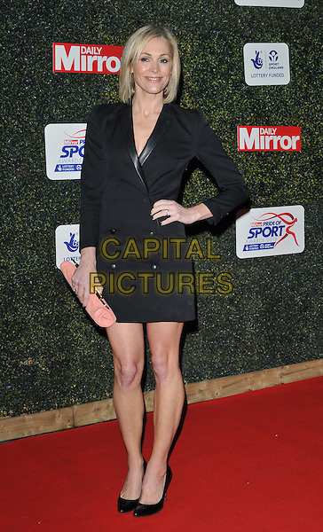 Jenni Falconer attends the Daily Mirror Pride of Sport Awards 2015, Grosvenor House Hotel, Park Lane, London, England, UK, on Wednesday 25 November 2015. <br /> CAP/CAN<br /> &copy;Can Nguyen/Capital Pictures