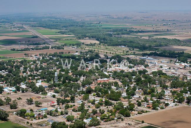 Aerial of Fowler, Colorado.  Aug 4, 2013. 80759