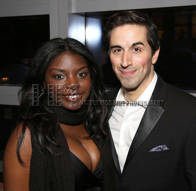 Joaquina Kalukango and Matthew Scott attend the DGF Reception for Andrew Lippa & Friends at Landmarc on February 1, 2017 in New York City.
