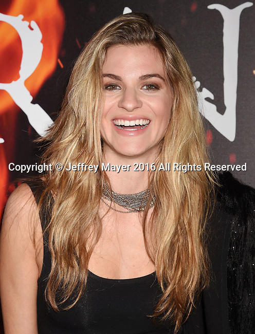 LOS ANGELES, CA - OCTOBER 25: Actress Rachel McCord arrives at the screening of Sony Pictures Releasing's 'Inferno' at DGA Theater on October 25, 2016 in Los Angeles, California.