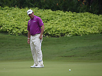 Lee Westwood (ENG) misses the birdie on the 4th during the Final Round of the 2014 Maybank Malaysian Open at the Kuala Lumpur Golf & Country Club, Kuala Lumpur, Malaysia. Picture:  David Lloyd / www.golffile.ie