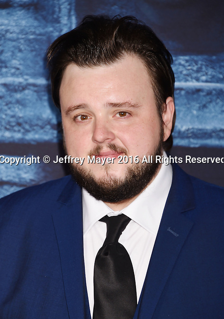 HOLLYWOOD, CA - APRIL 10: Actor John Bradley arrives at the premiere of HBO's 'Game of Thrones' Season 6 at the TCL Chinese Theatre on April 10, 2016 in Hollywood, California.