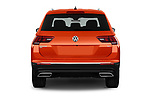 Straight rear view of a 2018 Volkswagen Tiguan SEL 4Motion 5 Door SUV stock images