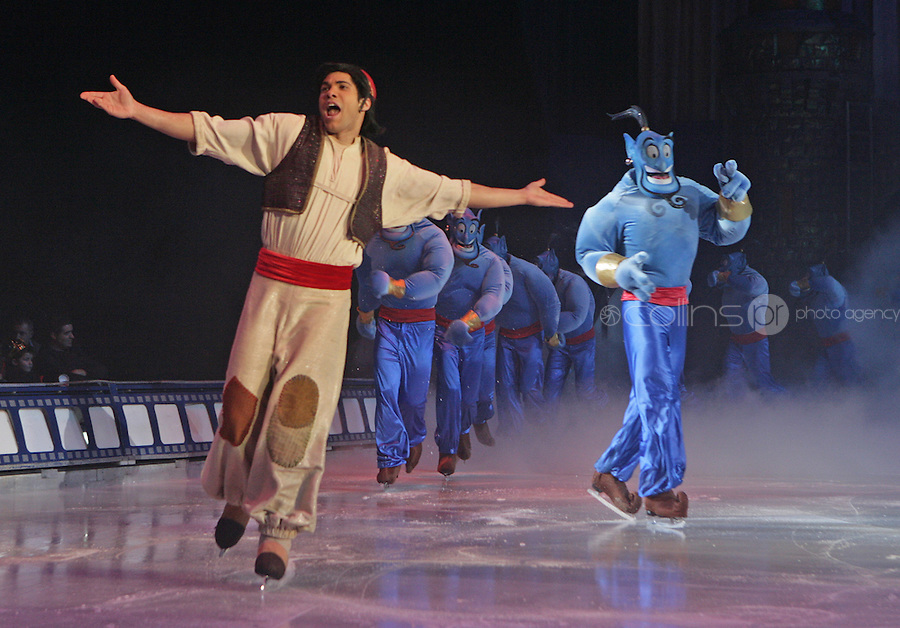 ***** NO FEE PIC*****.26/12/2010.Characters from Disney's Aladdin.during  Disney On Ice : 100 Years of Magic at the Citywest Hotel , Dublin..Disney on Ice runs from 26th December till the 2nd January 2011 with tickets available from Ticketmaster & Box Offices for all shows. .Photo: Gareth Chaney Collins