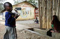 Nairobi .bambini di una scuola di padri Comboniani dello slum di Korogocho alla periferia di Nairobi                                ..Nairobi: children in the school of the Comboni Fathers, of Korogocho slum on the outskirts of Nairobi