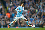 David Silva of Manchester City during the Barclays Premier League match at Old Trafford. Photo credit should read: Philip Oldham/Sportimage