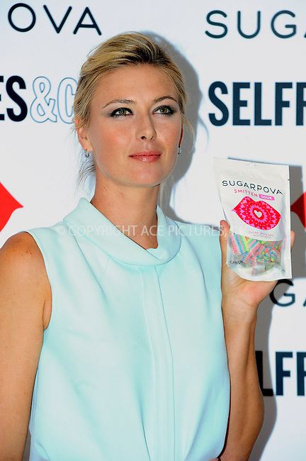 WWW.ACEPIXS.COM<br /> <br /> US Sales Only<br /> <br /> June 20 2013, London<br /> <br /> Maria Sharapova at the photocall to launch her new range of sweets called 'Sugapova' at Selfridges on June 20 2013 in London <br /> <br /> By Line: Famous/ACE Pictures<br /> <br /> <br /> ACE Pictures, Inc.<br /> tel: 646 769 0430<br /> Email: info@acepixs.com<br /> www.acepixs.com