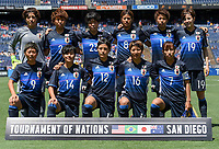 San Diego, CA - Sunday July 30, 2017: Starting eleven for Japan during a 2017 Tournament of Nations match between the women's national teams of the Australia (AUS) and Japan (JAP) at Qualcomm Stadium.