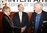 Estelle Parsons, Peter Zimroth and Rev. James Parks Morton attend the 12th Annual James Parks Morton Interfaith Awards Dinner at The Hilton Hotel Midtown on June 5, 2014 in New York City.