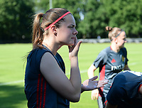 20170717 - RIJEN , NETHERLANDS :  Belgian Diede Lemey pictured during a training session of the Belgian national women's soccer team Red Flames on the pitch of Rijen , on Tuesday 18 July 2017 in Rijen . The Red Flames are at the Women's European Championship 2017 in the Netherlands. PHOTO SPORTPIX.BE | DAVID CATRY