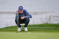 Bernd Wiesberger (AUT) looks over his putt on 18 during round 4 of the 2019 US Open, Pebble Beach Golf Links, Monterrey, California, USA. 6/16/2019.<br /> Picture: Golffile | Ken Murray<br /> <br /> All photo usage must carry mandatory copyright credit (© Golffile | Ken Murray)