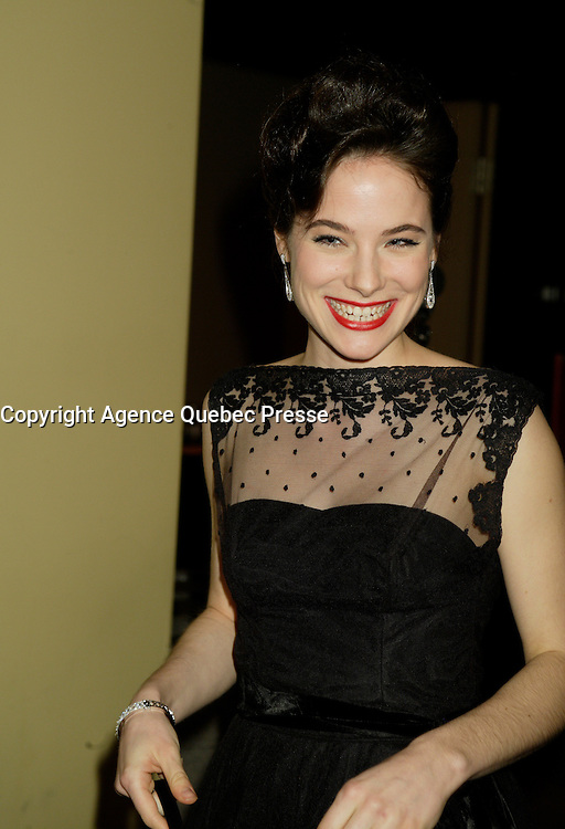 Montreal (Qc) CANADA - March 29 2009 - Jutras award (for Quebec Cinema)  : Caroline Dhavernas, actress