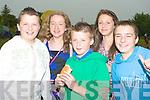 FOOD: Enjoying their hotdogs at the Caherleaheen National School open day on Sunday. l-r: Sean Hanafin, Alison Shaughnessy, Peter O'Halloran, Shauna Hanafin and Enda Jordan....