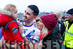 St Marys Bryan Sheehan celebrates with his son Donagh and his wife Ita after their win over Piarsaigh na Dromoda in the Walsh Super Value South Kerry Senior Championship Final in Cahersiveen on Saturday.