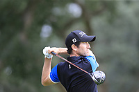 Gregory Bourdy (FRA) tees off the 7th tee during Sunday's storm delayed Final Round 3 of the Andalucia Valderrama Masters 2018 hosted by the Sergio Foundation, held at Real Golf de Valderrama, Sotogrande, San Roque, Spain. 21st October 2018.<br /> Picture: Eoin Clarke | Golffile<br /> <br /> <br /> All photos usage must carry mandatory copyright credit (&copy; Golffile | Eoin Clarke)