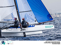 The Trofeo Princesa Sofia Iberostar celebrates this year its 50th anniversary in the elite of Olympic sailing in a record edition, to be held in Majorcan waters from 29th March to 6th April, organised by Club Nàutic S'Arenal, Club Marítimo San Antonio de la Playa, Real Club Náutico de Palma and the Balearic and Spanish federations. ©Jesus Renedo/SAILING ENERGY/50th Trofeo Princesa Sofia Iberostar<br /> 03 April, 2019.