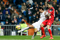 Kehedira of Real Madrid during La Liga match between Real Madrid and Sevilla at Santiago Bernabeu Stadium in Madrid, Spain. February 04, 2015. (ALTERPHOTOS/Caro Marin) /NORTEphoto.com