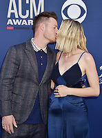 LAS VEGAS, CA - APRIL 07: Tyler Hubbard of Florida Georgia Line and Hayley Hubbard attend the 54th Academy Of Country Music Awards at MGM Grand Hotel &amp; Casino on April 07, 2019 in Las Vegas, Nevada.<br /> CAP/ROT/TM<br /> &copy;TM/ROT/Capital Pictures