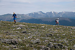 backpackers, Flattop Mountain, Rocky Mountain National Park, Colorado, USA