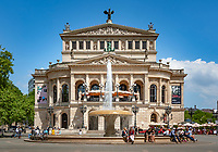 Germany, Hesse, Frankfurt on the Main: Alte Oper (old opera) building an Opera Square in the inner city | Deutschland, Hessen, Frankfurt am Main: die Alte Oper am Opernplatz