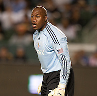 Zach Thornton. The LA Galaxy defeated Chivas USA 1-0 at Home Depot Center stadium in Carson, California Saturday evening July 11, 2009.