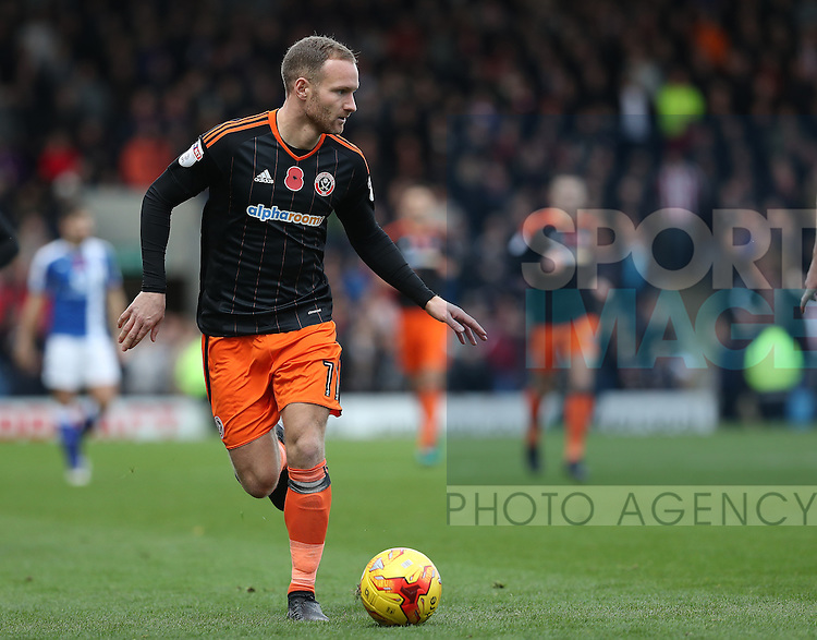 Matt Done of Sheffield Utd during the English Football League One match at Proact Stadium, Chesterfield. Picture date: November 13th, 2016. Pic Jamie Tyerman/Sportimage