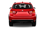 Straight rear view of 2017 Mitsubishi Outlander-Sport GT 5 Door SUV Rear View  stock images