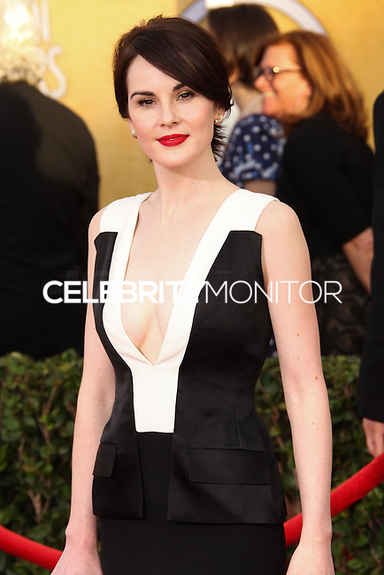 LOS ANGELES, CA - JANUARY 18: Michelle Dockery at the 20th Annual Screen Actors Guild Awards held at The Shrine Auditorium on January 18, 2014 in Los Angeles, California. (Photo by Xavier Collin/Celebrity Monitor)