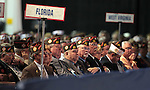 Participants listen to Republican presidential candidate Mitt Romney's speech at the Veterans of Foreign Wars convention in Reno, Nev., on Tuesday, July 24, 2012..Photo by Cathleen Allison