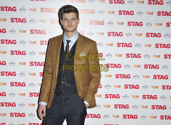 LONDON, ENGLAND - MARCH 13: Jim Chapman attends the &quot;The Stag&quot; gala film screening, Vue West End cinema, Leicester Square, on Thursday March 13, 2014 in London, England, UK.<br /> CAP/CAN<br /> &copy;Can Nguyen/Capital Pictures