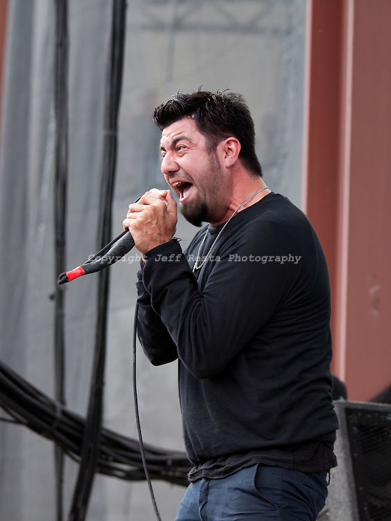 Deftones live concert at Pizza Hut Park on May 1, 2010 in Frisco, TX for Edgefest 20.