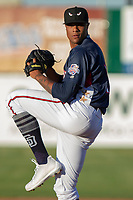 Reggie Lawson (19) of the Lake Elsinore Storm in action against the North Division during the 2018 California League All-Star Game at The Hangar on June 19, 2018 in Lancaster, California. The North All-Stars defeated the South All-Stars 8-1.  (Donn Parris/Four Seam Images)