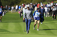 Dustin Johnson (USA) walks to the 5th green at Pebble Beach Golf Links during Saturday's Round 3 of the 2017 AT&amp;T Pebble Beach Pro-Am held over 3 courses, Pebble Beach, Spyglass Hill and Monterey Penninsula Country Club, Monterey, California, USA. 11th February 2017.<br /> Picture: Eoin Clarke | Golffile<br /> <br /> <br /> All photos usage must carry mandatory copyright credit (&copy; Golffile | Eoin Clarke)