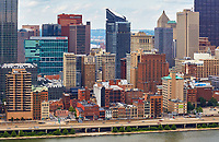 View of the downtown Pittsburgh skyline from across the Monongahela River