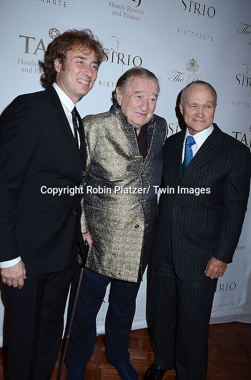 Marco, Sirio and Ray Kelly attend the Sirio Ristorante New York opening in the Pierre Hotel, a TAJ Hotel on October 24, 2012 in New York City. Sirio Maccioni hosted the party