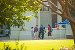 UPD chats with students attending the help tent.  Photo by Kevin Bain/Ole Miss Communications