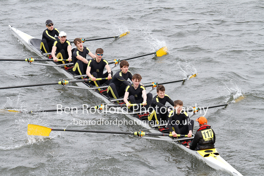 Crew: 117  Hampton Sch BC  Event: J15 CHAMP eights<br /> <br /> Schools' Head of the River 2017<br /> <br /> To purchase this photo, or to see pricing information for Prints and Downloads, click the blue 'Add to Cart' button at the top-right of the page.