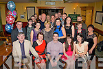 Paul Sweeney, Mounthawk (seated centre) travelled home from Glasgow, Scotland to celebrate his 30th birthday with family and friends in Stokers lodge, Tralee last Saturday night.