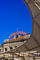 The train hall canopy at the newly renovated Denver Union Station, Downtown Denver, Colorado USA.