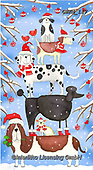 Kate, CHRISTMAS ANIMALS, WEIHNACHTEN TIERE, NAVIDAD ANIMALES, paintings+++++Christmas Dog stacks 1,GBKM117,#xa#