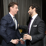 Christian Borle and Brandon Uranowitz attends the Opening Night After Party for 'Falsettos'  at the New York Hilton Hotel on October 27, 2016 in New York City.