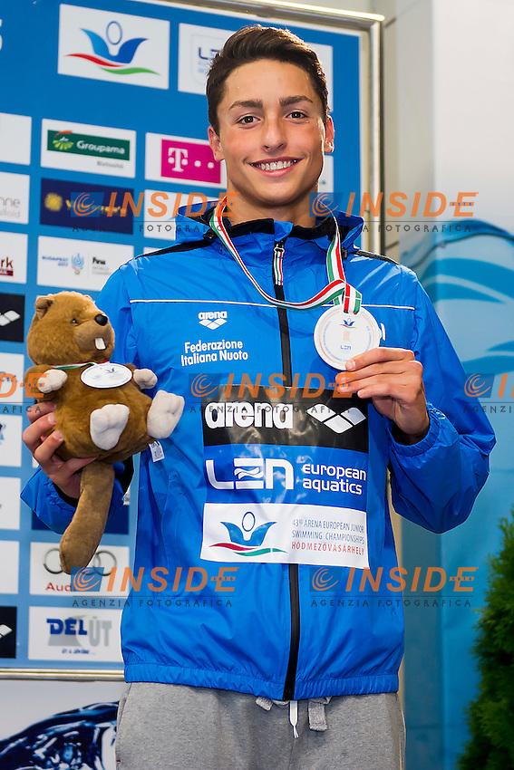 Bietti Jacopo ITA<br /> 200 Backstroke Men Final Bronze Medal<br /> LEN 43rd Arena European Junior Swimming Championships<br /> Hodmezovasarhely, Hungary <br /> Day04 09-07-2016<br /> Photo Andrea Masini/Deepbluemedia/Insidefoto