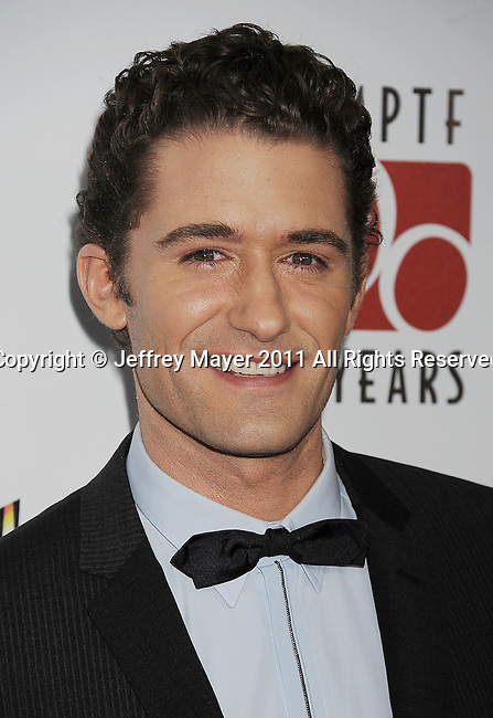 """CULVER CITY, CA - OCTOBER 15: Matthew Morrison attends the The 6th Annual """"A Fine Romance"""" Event at Sony Pictures Studios on October 15, 2011 in Culver City, California."""