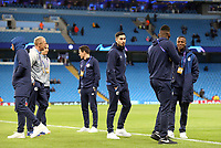 FC Schalke 04 players and coaching staff inspect the pitch ahead of kick-off at The Etihad<br /> <br /> Photographer Rich Linley/CameraSport<br /> <br /> UEFA Champions League Round of 16 Second Leg - Manchester City v FC Schalke 04 - Tuesday 12th March 2019 - The Etihad - Manchester<br />  <br /> World Copyright © 2018 CameraSport. All rights reserved. 43 Linden Ave. Countesthorpe. Leicester. England. LE8 5PG - Tel: +44 (0) 116 277 4147 - admin@camerasport.com - www.camerasport.com