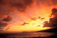 Sunset at Hanauma Bay on the Island of Ohau