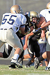 Palos Verdes, CA 10/02/09 - The Vista Murietta Broncos visited the Peninsula Panthers in a non-league contest, won 43-21 by Vista Murietta.  In action are Taylor Yacobucci (#10)