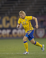 Sweden defender Annica Svensson (22). The US Women's national team beat Sweden, 3-0, at Rentschler Field on July 17, 2010.