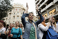 Pictured: Protesters on the streets of central Athens, Greece. Wednesday 17 May 2017<br /> Re: Clashes between anti fourth memorandum protesters and riot police during 24 hour strike in Athens, Greece